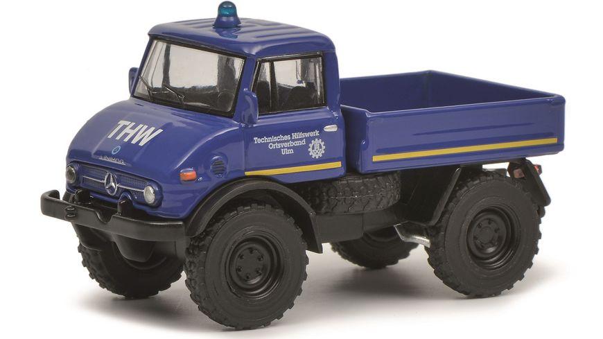 Schuco Edition 1 64 Unimog U406 THW blau