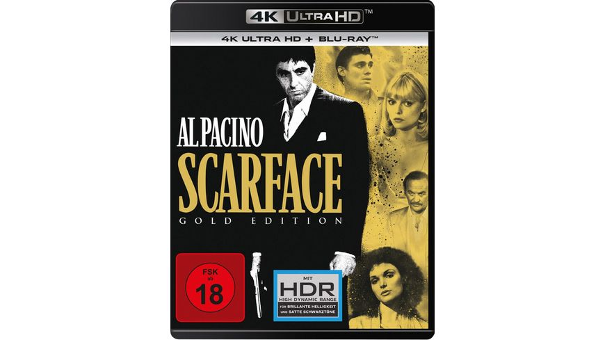Scarface 1983 Gold Edition 4K Ultra HD Blu ray 2D