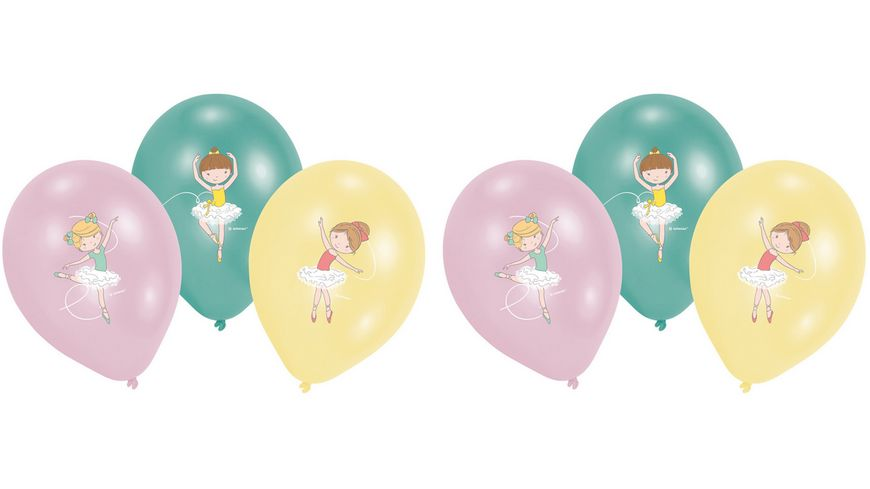 Amscan 6 Latexballons Little Dancer 28cm