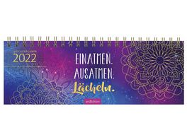 Tischkalender 2022 Einatmen Ausatmen Laecheln