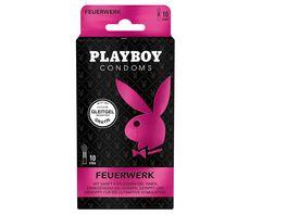 PLAYBOY CONDOMS FEUERWERK Kondome mit 4 Gleitgel Sachets