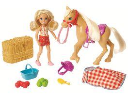 Mattel Barbie Spass auf dem Bauernhof Chelsea und Pony