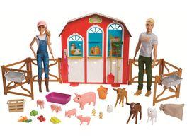 Mattel Barbie Spass auf dem Bauernhof Bauernhof Spielset mit zwei Puppen