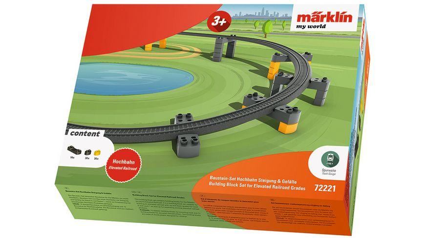 Maerklin 72221 Maerklin my world Baustein Set Hochbahn Steigung Gefaelle