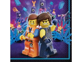 Amscan 16 Servietten Lego Movie 2 33 x 33 cm