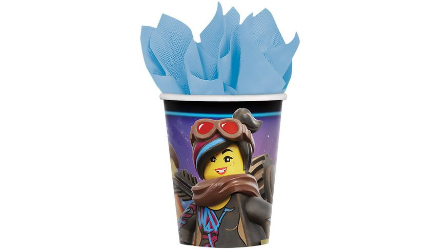 Amscan 8 Pappbecher Lego Movie 2 266 ml