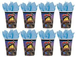 Amscan 8 Pappbecher Lego Movie 2 266 ml
