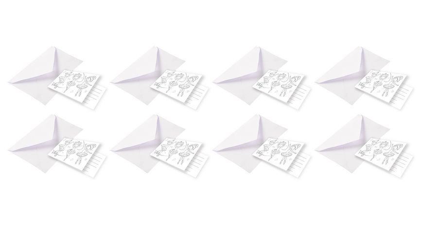 Amscan - 8 Einladungskarten Little Dancer, Material: Papier, 8 x 14 cm