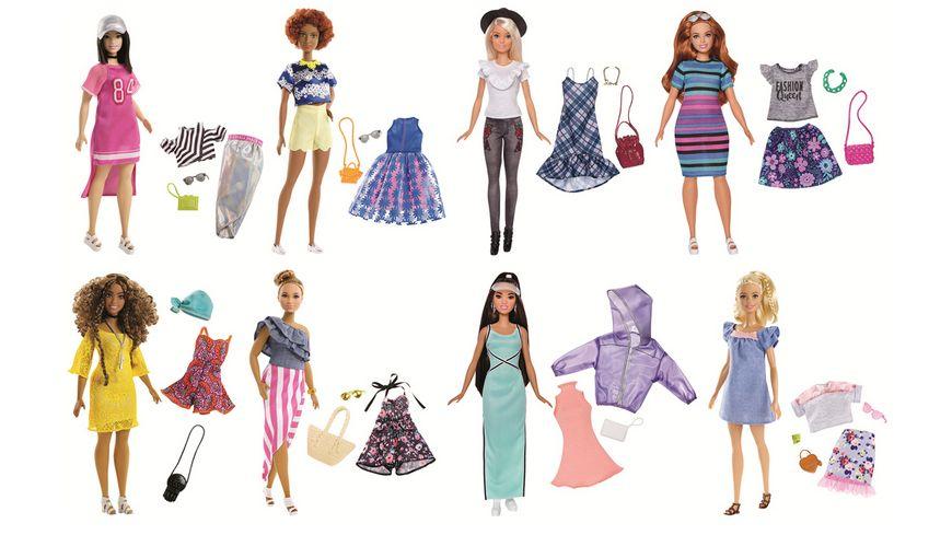 Mattel Barbie Fashionistas Puppe Mode Geschenkset 1 Stueck sortiert