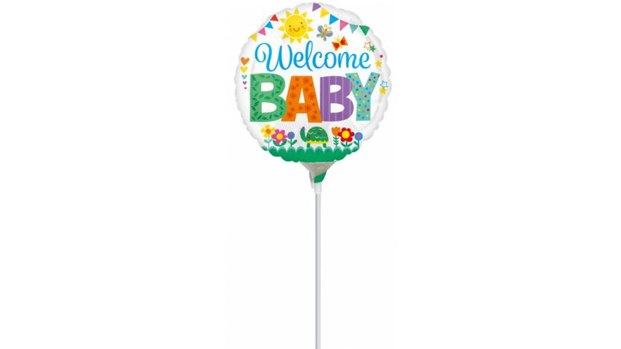 Amscan Folienballon Mini Shape WELCOME Baby 23 cm