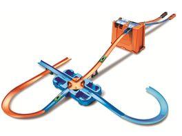 Hot Wheels Track Builder Unlimited Mega Stunt Box Autorennbahn mit 2 Autos