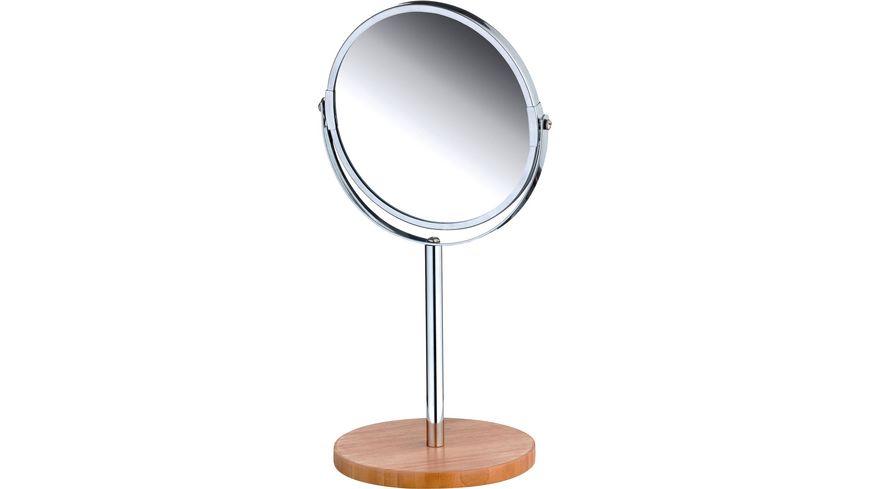 Standspiegel, verchromt aus Bambusholz