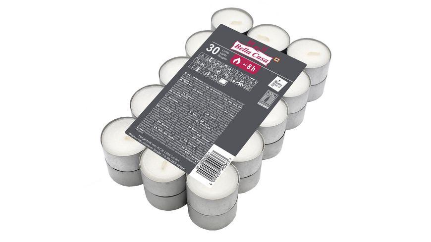 Vollmar Teelichter 30 Stück weiß 8h Brenndauer