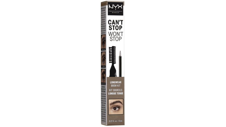 NYX PROFESSIONAL MAKEUP Can t Stop Won t Stop Longwear Brow Ink Kit