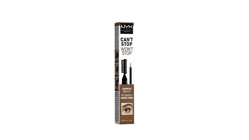 NYX PROFESSIONAL MAKEUP Augenbrauenstift Can t Stop Won t Stop Longwear Brow Ink Kit