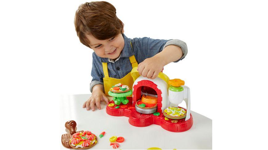 Hasbro Play Doh Pizzaofen mit 5 Dosen Play Doh in verschiedenen Farben