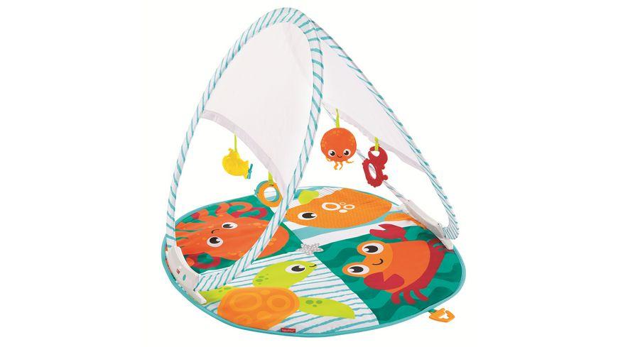 Fisher-Price Faltbare Meeres-Spieldecke, Babydecke, Spielmatte, Krabbeldecke