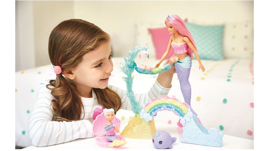 Mattel Barbie Dreamtopia Meerjungfrauen Spielplatz Set mit Puppen