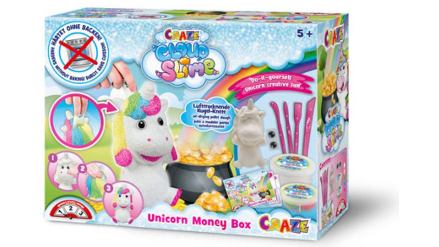 CRAZE Cloud Slime Money Box Unicorn