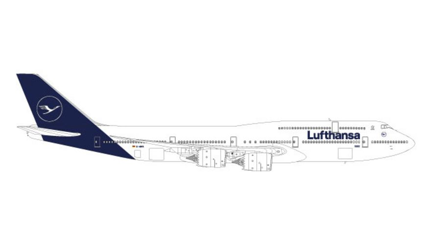 Herpa 559188 Wings Lufthansa Boeing 747 8 Intercontinental new 2018 colors
