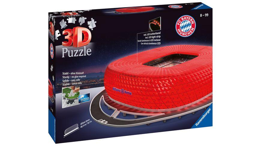 Ravensburger Puzzle - 3D-Puzzle - Allianz Arena bei Nacht