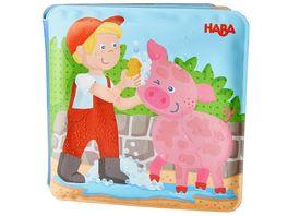 HABA Badebuch Waschtag bei Schwein Kuh