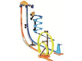 Hot Wheels Track Builder Unlimited Senkrechtstarter Stunt Set 127 cm hohe Autorennbahn