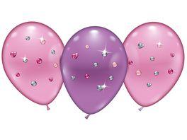 Karaloon 4 Ballons Balloons Pink Jewels