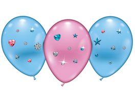 Karaloon 4 Ballons Balloons Hearts Stars Jewels