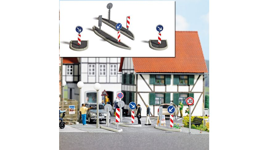 BUSCH 1111 H0 Verkehrsinseln
