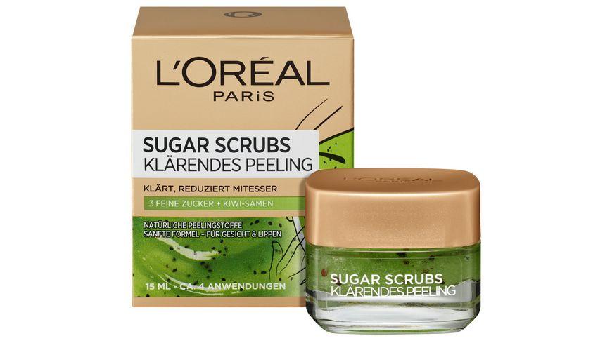 L Oreal Paris Sugar Scrubs klaerendes Gesichtspeeling