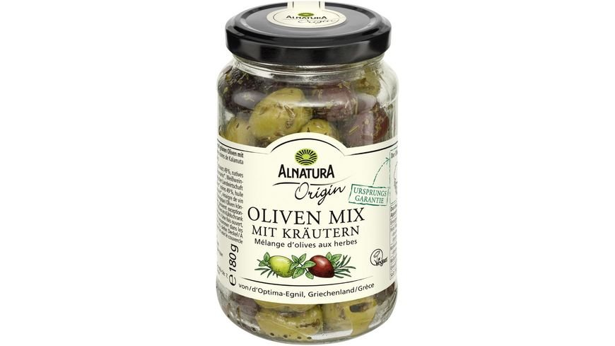 Alnatura Origin Oliven Mix mit Kräutern