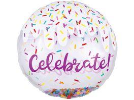 Amscan Folienballon CELEBRATE mit Konfetti JUMBO P45