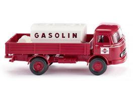 WIKING 0438 04 Pritschen Lkw mit Aufsatztank MB LP 321 Gasolin 1 87