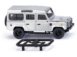WIKING 0102 03 Land Rover Defender 110 silber metallic 1 87