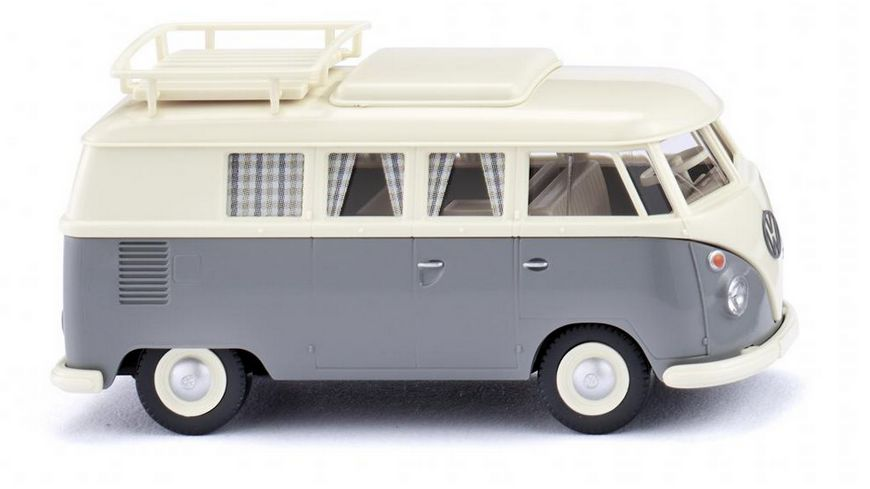 WIKING 0797 24 VW T1 Campingbus perlweiss grau 1 87