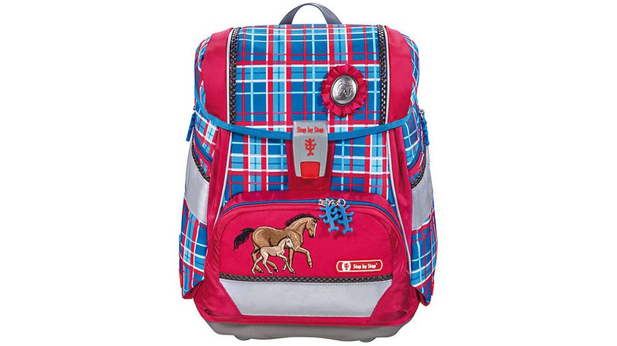 Step by Step 2in1 Schulranzen Set Horse Family 4 teilig