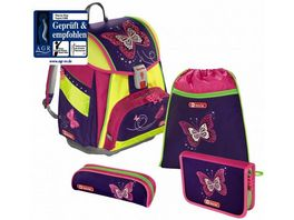 Step by Step TOUCH 2 DIN Schulranzen Set Shiny Butterfly 4 teilig