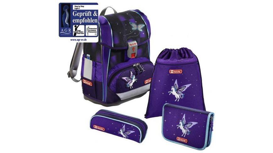 Step by Step LIGHT 2 Schulranzen Set Pegasus Dream 4 teilig