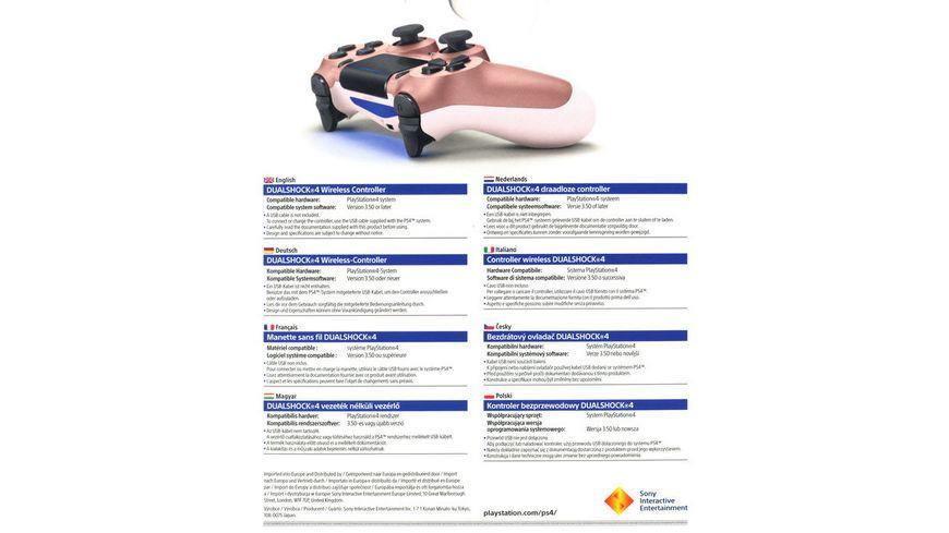 PS4 Dualshock 4 Wireless Controller Rose Gold