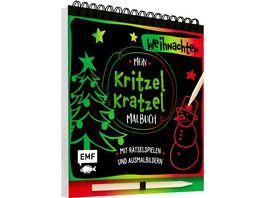 Mein Kritzel Kratzel Malbuch Weihnachten