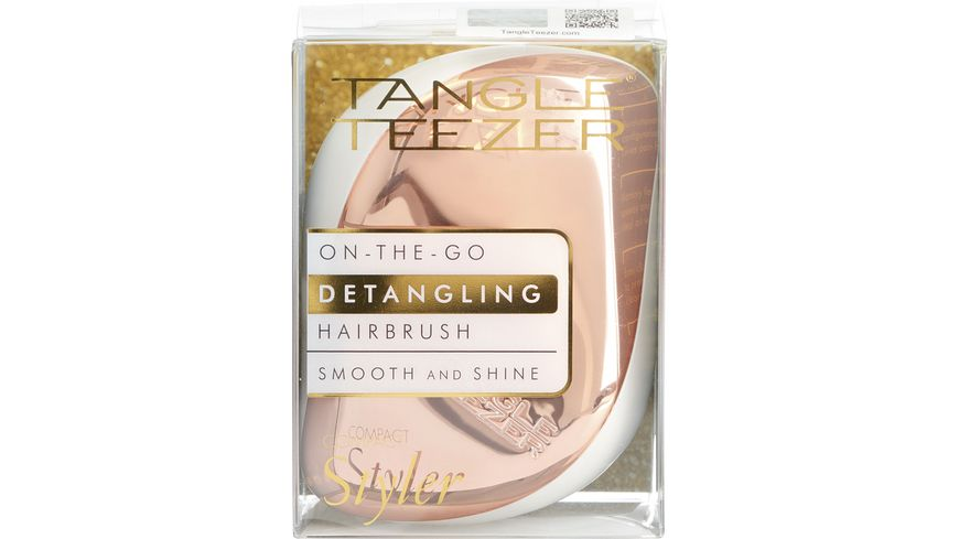 Tangle Teezer Compact Styler Haarbürste Rose Gold Cream