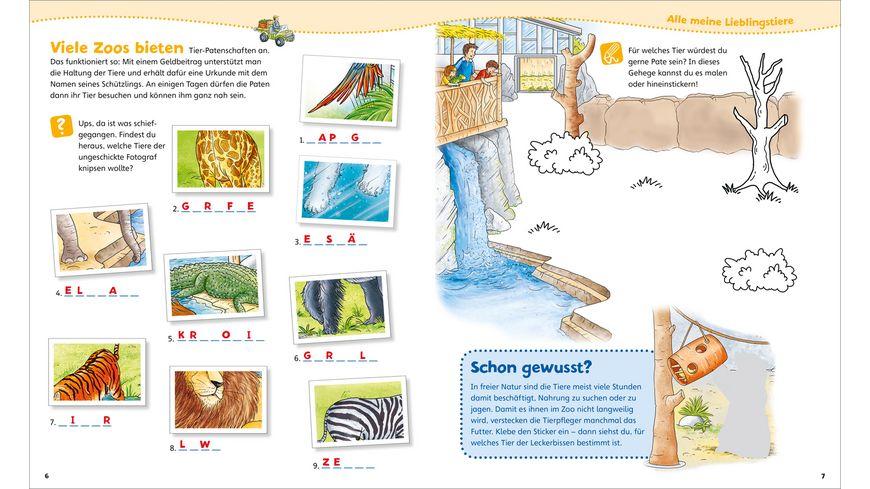 WAS IST WAS Junior Mitmach Heft Zoo Spiele Raetsel Sticker