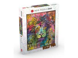 Heye 2000 Teile Puzzle Dean Russo Lion s Heart