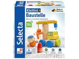 Selecta 62075 Klettini Baustelle Klett Stapelspielzeug
