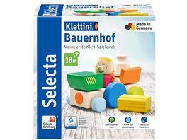 Selecta 62076 Klettini Bauernhof Klett Stapelspielzeug