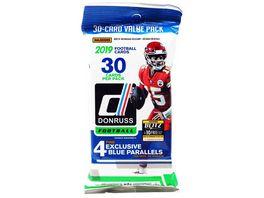 Panini NFL 2019 DONRUSS Football Trading Card 30 Karten Value Pack