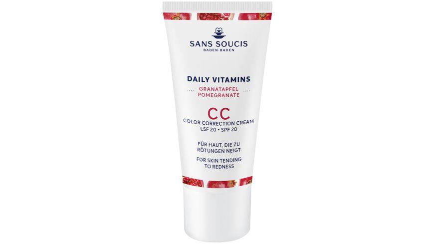 SANS SOUCIS Daily Vitamins Granatapfel CC Cream Anti Roetungen LSF 20