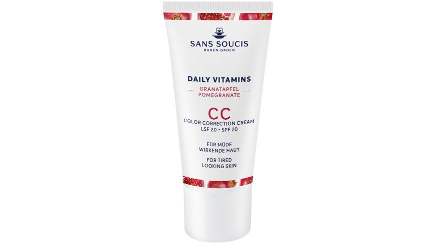 SANS SOUCIS Daily Vitamins Granatapfel CC Cream LSF 20 Anti Muedigkeit