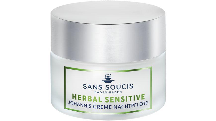 SANS SOUCIS Herbal Sensitive Johannis Creme Nachtpflege